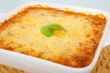 Cheese Topped Casserole Straight from the Oven