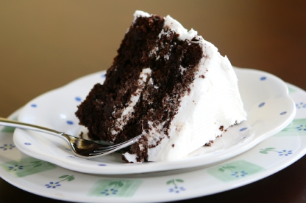 Chocolate Ganache with Vanilla Cream Recipe