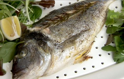 Gilthead Charlotte with Eggplants Recipe