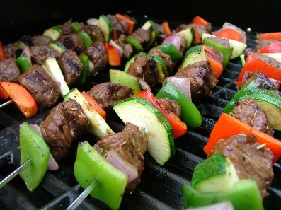 Grilled Kabobs with Steak and Vegetables2