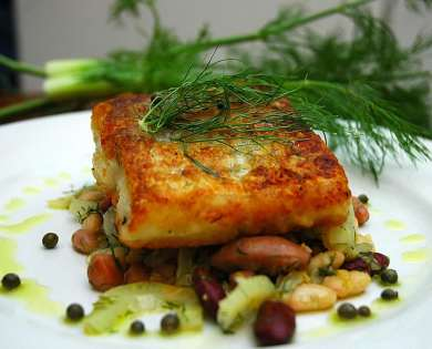 Haddock fillet with red wine Recipe