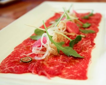 Salmon and eel carpaccio with tender herbs Recipe