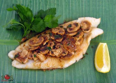Sole Fillets with Mushrooms Recipe