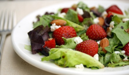 Strawberry Salad with Goat Cheese recipe