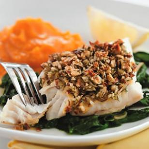 Trout with walnuts Recipe
