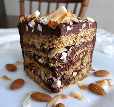 Almond Praline Chocolate Cake Recipe