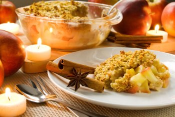 Apple Gratin With Pine Nuts