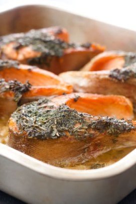Baked Fish with Port Wine Sauce