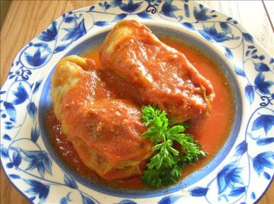 Beef and Pork Stuffed Cabbage Rolls Recipe
