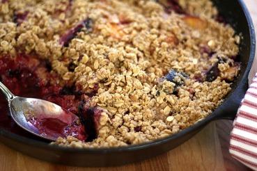 Blueberry Plum Crisp Recipe