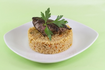 Bull Fillet and Farmhouse Rice