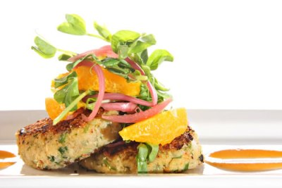 Crab cake with the pistachios and olive from the Perigord region Recipe