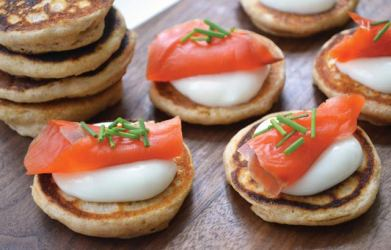 Crepes Parmentieres with Salmon and Caviar Recipe