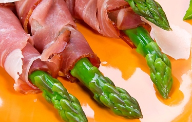 Grilled Asparagus with Ham Recipe