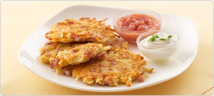 Ham Cheese and Potato Pancakes Recipe