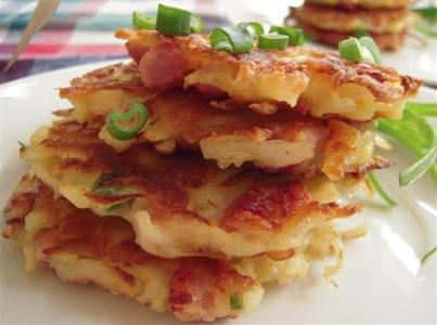 Ham Cheese and Potato Pancakes Recipe
