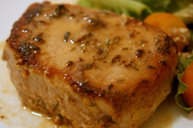 Mustard And Rosemary Pork Chops Recipe