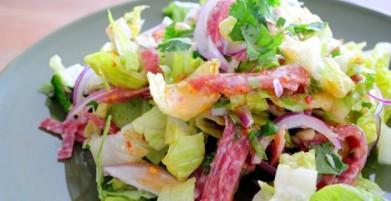 Salami salad recipe