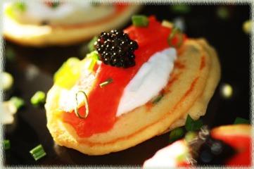 Salmon Pancakes With Caviar Recipe