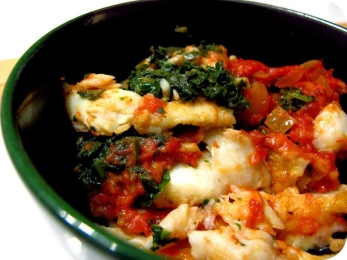 Stockfish brandade with tellines and tomato butter Recipe