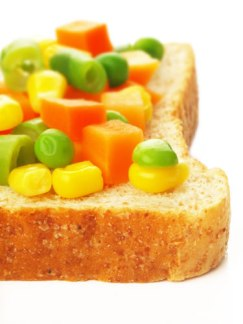 Carrot and Peas Sandwich Recipe