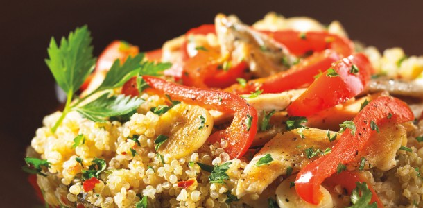 Easy Healthy Quinoa Recipe: Chicken And Vegetables With Quinoa