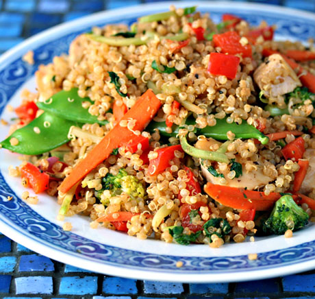Easy Healthy Quinoa Recipe: Chicken And Vegetables With ...