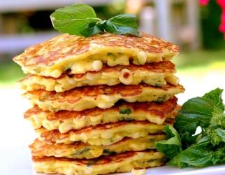 Corn and Basil Pancakes2