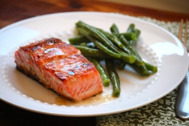 Salmon with Blueberry Butter recipe