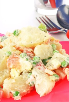 Sweet Potatoes and Peas Recipe